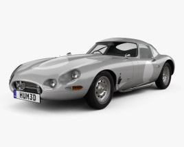 3D model of Jaguar E-type Lightweight 1963