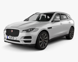 3D model of Jaguar F-Pace 2016
