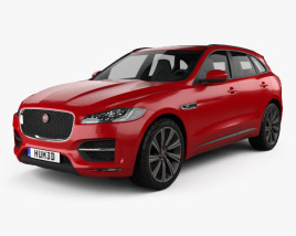 3D model of Jaguar F-Pace R-Sport 2016