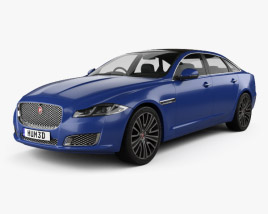3D model of Jaguar XJ (X351) 2015