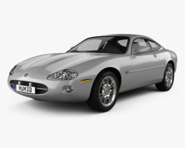 3D model of Jaguar XK 8 coupe 1996