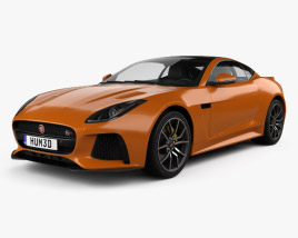 3D model of Jaguar F-Type SVR Coupe 2016