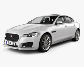 3D model of Jaguar XF 2016
