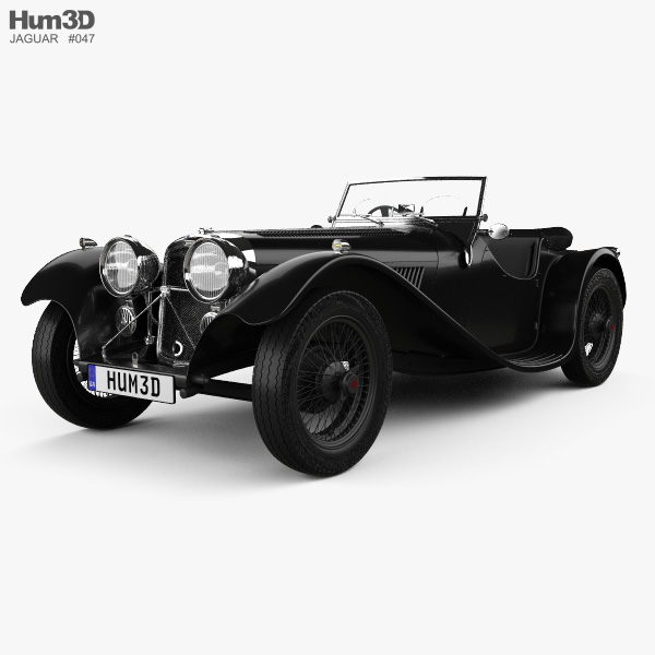 3D model of SS Jaguar 100 1936