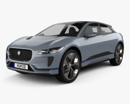 3D model of Jaguar I-Pace 2016