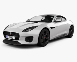 3D model of Jaguar F-Type 400 Sport Coupe 2017