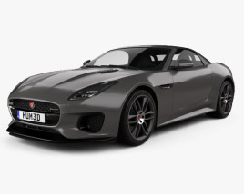 3D model of Jaguar F-Type R-Dynamic Convertible 2017