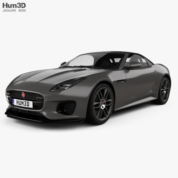 Jaguar F-Type R-Dynamic Convertible 2017 3D model