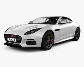 3D model of Jaguar F-Type R Coupe 2017