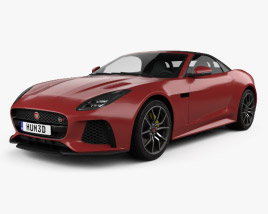 3D model of Jaguar F-Type SVR Convertible 2017