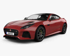 3D model of Jaguar F-Type SVR Coupe 2017