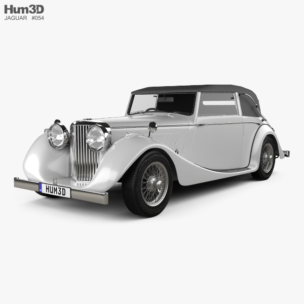 3D model of Jaguar Mark IV Drophead Coupe 1940