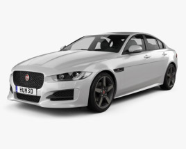 3D model of Jaguar XE R-Sport 2017