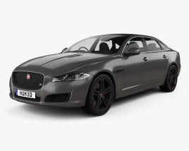 3D model of Jaguar XJR575 (X351) 2017