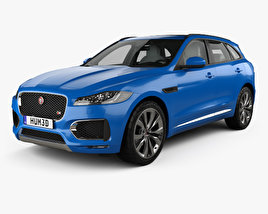 3D model of Jaguar F-Pace S with HQ interior 2017