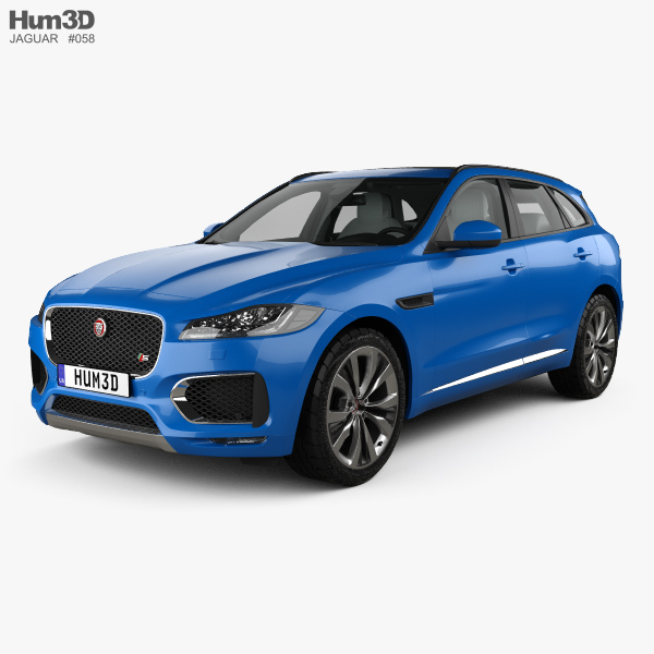 Jaguar F-Pace S with HQ interior 2017 3D model