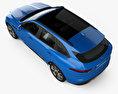 Jaguar F-Pace S with HQ interior 2017 3d model top view