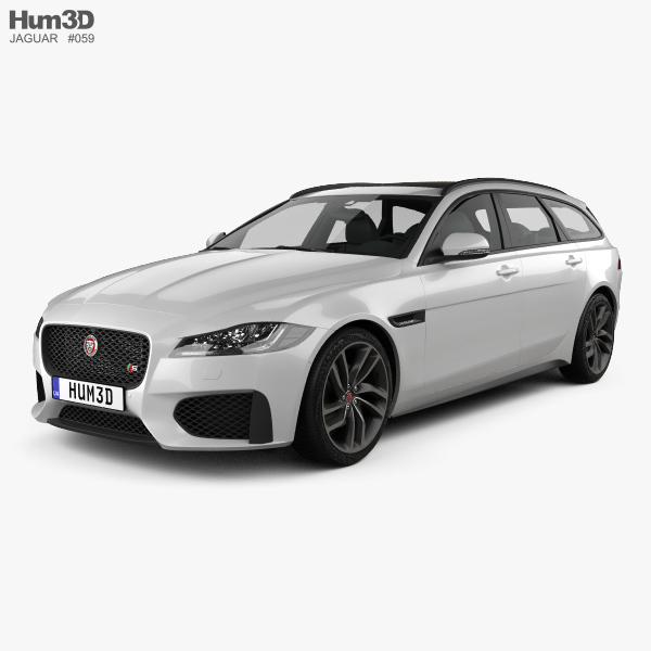 3D model of Jaguar XF sportbrake S 2016