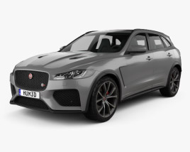 3D model of Jaguar F-Pace SVR 2018