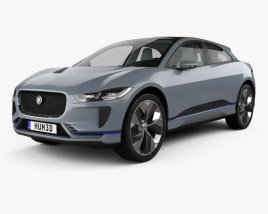 3D model of Jaguar I-Pace with HQ interior 2016