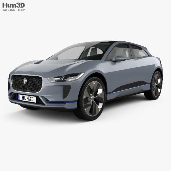 Jaguar I-Pace concept with HQ interior 2016 3D model