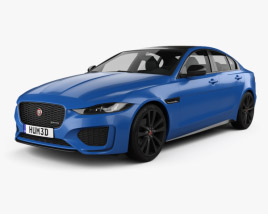 3D model of Jaguar XE Reims Edition 2020