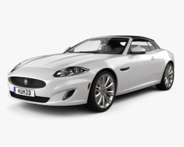 3D model of Jaguar XK convertible with HQ interior 2011
