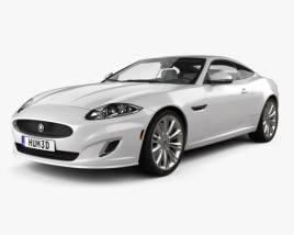 3D model of Jaguar XK coupe with HQ interior 2011