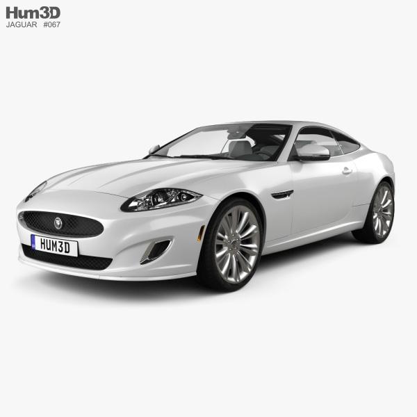 Jaguar XK coupe with HQ interior 2011 3D model