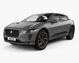 3D model of Jaguar I-Pace EV400 HSE with HQ interior and engine 2019