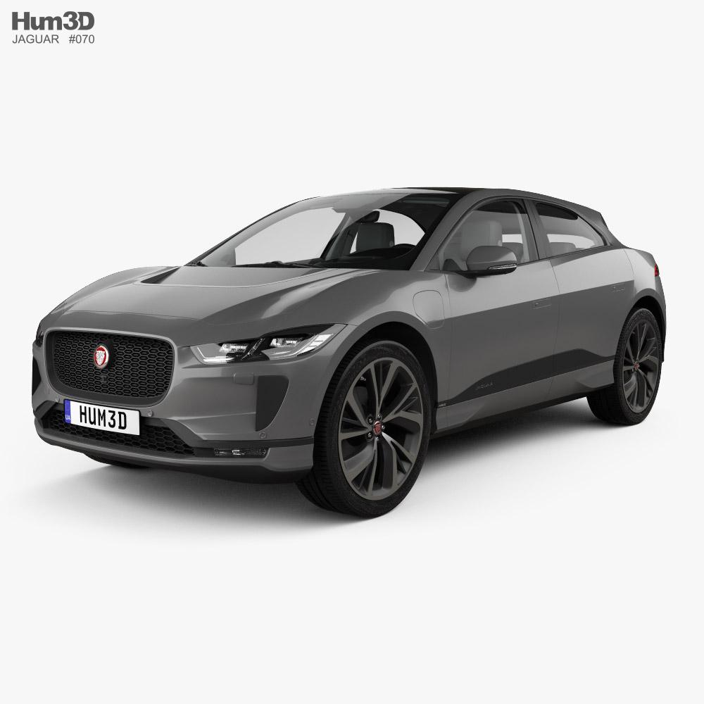 Jaguar I-Pace EV400 HSE with HQ interior and engine 2019 3D model