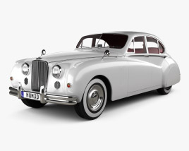 3D model of Jaguar Mark VII with HQ interior 1951