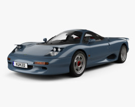 3D model of Jaguar XJR-15 1991