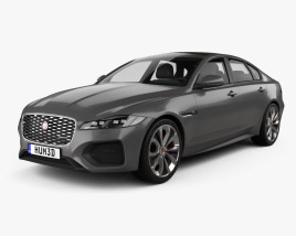 3D model of Jaguar XF R-Dynamic 2020