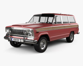 3D model of Jeep Wagoneer 1978