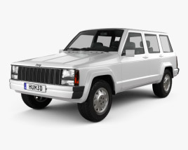 3D model of Jeep Cherokee XJ 4-door 2001