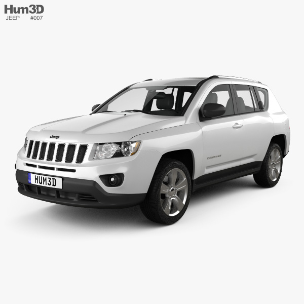 3D model of Jeep Compass 2012