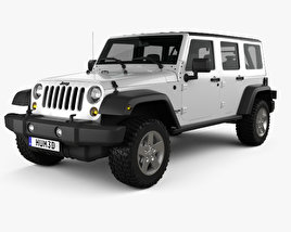 3D model of Jeep Wrangler JK Unlimited 5door 2012