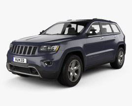 3D model of Jeep Grand Cherokee Overland 2014