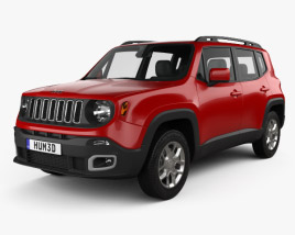 3D model of Jeep Renegade Latitude 2015