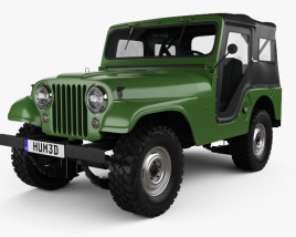 3D model of Jeep CJ-5 1954