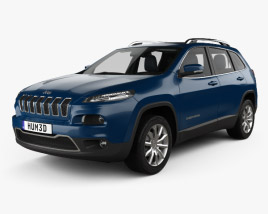 3D model of Jeep Cherokee Limited with HQ interior 2014