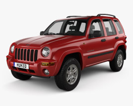 3D model of Jeep Cherokee KJ 2002