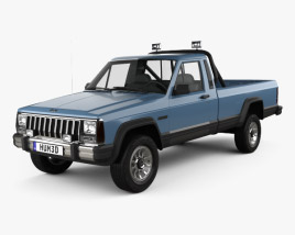3D model of Jeep Comanche MJ 1984