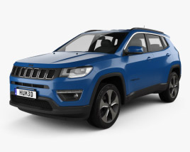 3D model of Jeep Compass Longitude (Latam) 2016