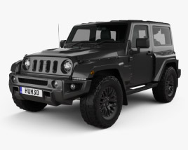 3D model of Jeep Wrangler Project Kahn JC300 Chelsea Black Hawk 2-door 2016
