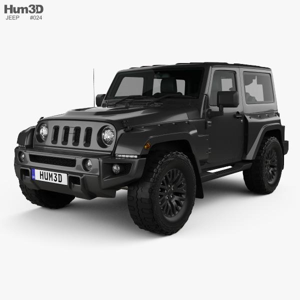 Jeep Wrangler Project Kahn JC300 Chelsea Black Hawk 2-door 2016 3D model