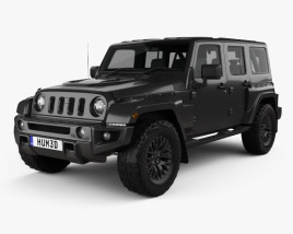 3D model of Jeep Wrangler Project Kahn JC300 Chelsea Black Hawk 4-door 2016