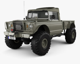 3D model of Jeep Kaiser M715 Olive Drab Ogre 1967