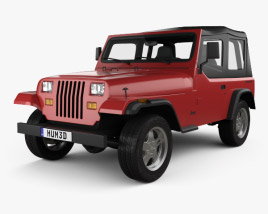 3D model of Jeep Wrangler YJ 1987